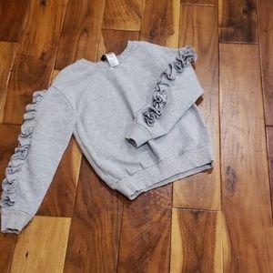 Bebe heather gray sweatshirt
